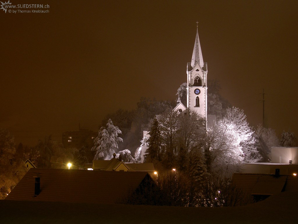 church during wintertime, jona
