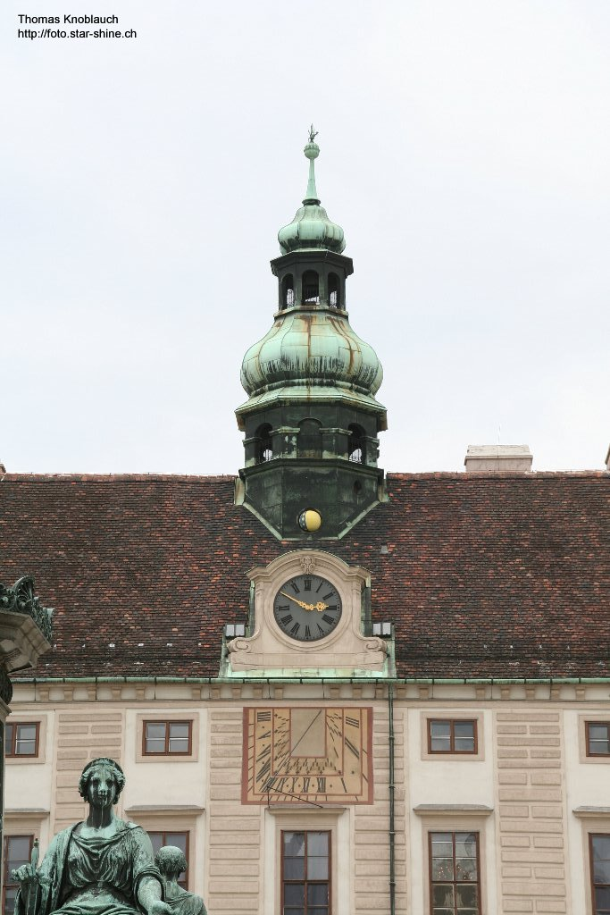 Astronomical clock at Vienna Hofburg, Austria