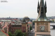 View from Kleinseitner tower towards south, Prague, Czechia